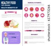 healthy food infographics... | Shutterstock .eps vector #617973266