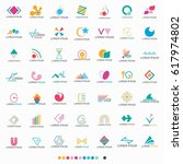 abstract shape logo set   vector | Shutterstock .eps vector #617974802