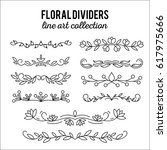 line art ornaments. flourishes. ... | Shutterstock .eps vector #617975666