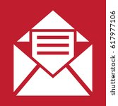 envelope icon on red background