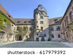 Courtyard Of Old Castle In...