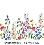 Stock vector embroidery flowers embroidered design elements with flowers and leaves on a black background 617984432