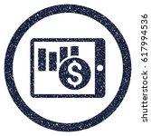 sales chart on pda grainy... | Shutterstock .eps vector #617994536