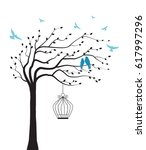 vector illustration tree with... | Shutterstock .eps vector #617997296