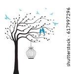 vector illustration tree with... | Shutterstock .eps vector #617997296
