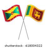 grenadian and sri lankan... | Shutterstock .eps vector #618004322
