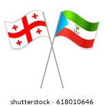 georgian and equatorial guinean ... | Shutterstock .eps vector #618010646