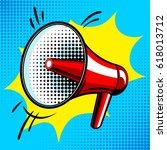 Loudspeaker Comic Book Pop Art...