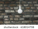 white light bulb in front of... | Shutterstock . vector #618014708