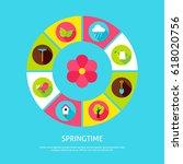 spring time concept. vector...   Shutterstock .eps vector #618020756