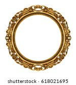 gold vintage frame isolated on... | Shutterstock . vector #618021695
