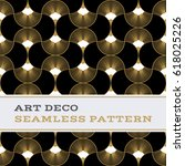 art deco seamless pattern with... | Shutterstock .eps vector #618025226