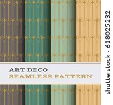art deco seamless pattern with... | Shutterstock .eps vector #618025232