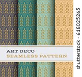 art deco seamless pattern with... | Shutterstock .eps vector #618025265