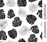 seamless vector tropical... | Shutterstock .eps vector #618025268