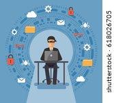 cyber thief  hacker  hacking... | Shutterstock .eps vector #618026705