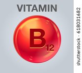 vitamin b12 icon. vitamin drop... | Shutterstock .eps vector #618031682
