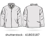 Mens Jacket Sweatshirt Template Zipper Stock Vector Royalty Free 61803187