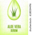 aloe vera serum. cosmetic and...   Shutterstock .eps vector #618034496