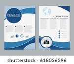modern business two sided flyer ... | Shutterstock .eps vector #618036296