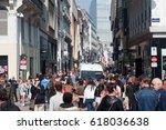 brussels   april 8  belgian... | Shutterstock . vector #618036638