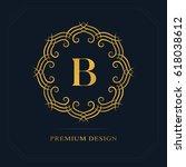 modern logo design. geometric... | Shutterstock .eps vector #618038612