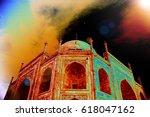 taj mahal india   | Shutterstock . vector #618047162
