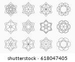 set of abstract symmetric... | Shutterstock .eps vector #618047405