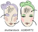 face form for make up. | Shutterstock .eps vector #61804972