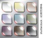 abstract vector web buttons set ... | Shutterstock .eps vector #618053846