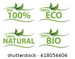 eco friendly organic natural... | Shutterstock .eps vector #618056606