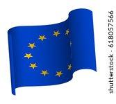 waving flag of european union.... | Shutterstock .eps vector #618057566