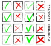 vector check marks. check mark  ... | Shutterstock .eps vector #618057572