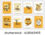 Vector Hand Drawn Honey Poster...