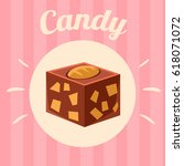 candy on pink background.... | Shutterstock .eps vector #618071072