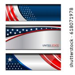 usa flag color background for... | Shutterstock .eps vector #618071978