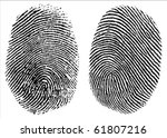 two detailed vector thumb... | Shutterstock .eps vector #61807216