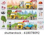 transport evacuation... | Shutterstock .eps vector #618078092