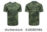 mannequin in military t shirt ... | Shutterstock . vector #618080486