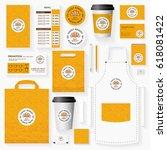 sweet bakery corporate identity ...   Shutterstock .eps vector #618081422