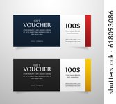 colorful gift voucher template. ...   Shutterstock .eps vector #618093086