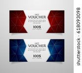 colorful gift voucher template. ...   Shutterstock .eps vector #618093098