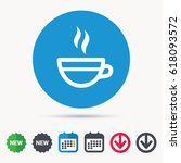 tea cup icon. hot coffee drink... | Shutterstock .eps vector #618093572