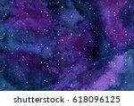 watercor background space ... | Shutterstock . vector #618096125