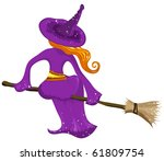 vector halloween witch | Shutterstock .eps vector #61809754