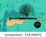 open air festival party... | Shutterstock .eps vector #618108452