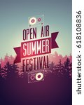 summer festival open air... | Shutterstock .eps vector #618108836