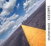 most asphalt road. diagonal... | Shutterstock . vector #61810891