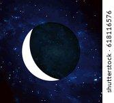 raster illustration. moon.... | Shutterstock . vector #618116576