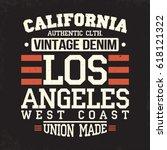 california los angeles t shirt... | Shutterstock .eps vector #618121322